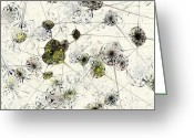 Green. Organic Greeting Cards - Neural Network Greeting Card by Anastasiya Malakhova