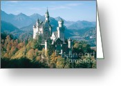 King Ludwig Greeting Cards - Neuschwanstein Castle Greeting Card by Edward Drews