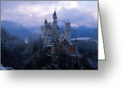 King Ludwig Greeting Cards - Neuschwanstein Greeting Card by Don Ellis