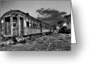 Abandoned Train Greeting Cards - Nevada City Ghost Town Train Greeting Card by Daniel Hagerman