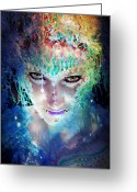 Body Paint Greeting Cards - Never Ever Analyze Your Dreams Greeting Card by Melissa Wyatt