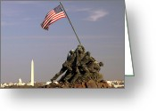 Washington D.c. Tapestries Textiles Greeting Cards - Never Forget Greeting Card by Mitch Cat
