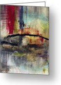 Abstracts Greeting Cards - Never Say Never Greeting Card by Michel  Keck