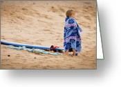 Surf Lifestyle Greeting Cards - Never Too Young to Surf Greeting Card by Denis Dore