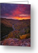 West Virginia Greeting Cards - Neverending Autumn Greeting Card by Joseph Rossbach