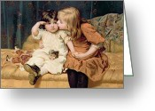 Kid Painting Greeting Cards - Nevermind Greeting Card by Frederick Morgan