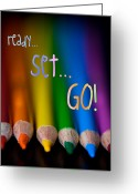 Crayons Greeting Cards - New Beginnings Greeting Card Greeting Card by Lisa Knechtel