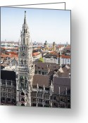 Town Hall Greeting Cards - New City Hall, Munich Greeting Card by Raimund Koch