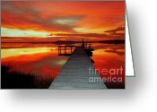 Inland Greeting Cards - New Dawn of New Year  Greeting Card by Karen Wiles