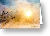 Sunrise Photo Greeting Cards - New Day Yesterday Greeting Card by Bob Orsillo