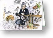 Fdr Greeting Cards - New Deal: Supreme Court Greeting Card by Granger