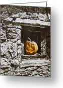 Indiana Autumn Greeting Cards - New Harmony Jack Greeting Card by Michael Lee Summers
