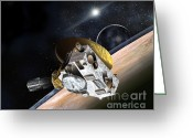 Most Greeting Cards - New Horizons Spacecraft At Pluto Greeting Card by NASA/Johns Hopkins University APL/Southwest Research Institute