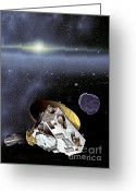 Most Greeting Cards - New Horizons Spacecraft In Kuiper Belt Greeting Card by NASA/Johns Hopkins University APL/Southwest Research Institute