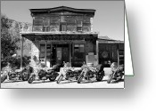 Black And White Photo Greeting Cards - New horses at Bedrock Greeting Card by David Lee Thompson
