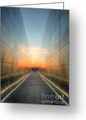 September 11 Greeting Cards - New Jersey Empty Sky Memorial II Greeting Card by Clarence Holmes