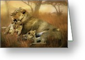 Animal Art Giclee Mixed Media Greeting Cards - New Life Greeting Card by Carol Cavalaris