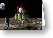 Lunar Photo Greeting Cards - New Lunar Lander Greeting Card by Nasa