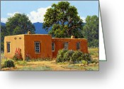 Bloomfield Greeting Cards - New Mexico Adobe Greeting Card by Randy Follis