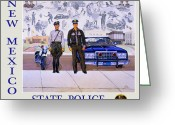 Bloomfield Greeting Cards - New Mexico State Police Poster Greeting Card by Randy Follis