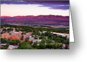 Mountains New Mexico Greeting Cards - New Mexico Sunset Greeting Card by Matt Suess