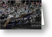 Harley Davidson Rally Greeting Cards - New millennium Greeting Card by Anthony Wilkening