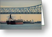 N Framed Prints Greeting Cards - New Orleans Bridge Greeting Card by Scott Rogers
