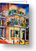 Hospitality Greeting Cards - New Orleans La Fittes Guest House Greeting Card by Diane Millsap