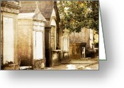 Graveyards Greeting Cards - New Orleans Lafayette Cemetery No.1 Greeting Card by Kim Fearheiley