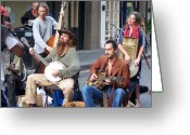 Street Musicians Greeting Cards - New Orleans Musicians Greeting Card by Vijay Sharon Govender