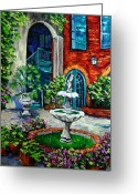 New York City Painting Greeting Cards - New Orleans Painting Brulatour Got a Penny Greeting Card by Beata Sasik