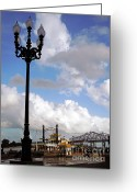 Riverwalk Greeting Cards - New Orleans Riverwalk Greeting Card by Joy Tudor