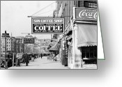 Daily Life Greeting Cards - New Orleans: Street, 1935 Greeting Card by Granger