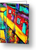 Paula Shaughnessy Greeting Cards - New Orleans1 Greeting Card by Paula Shaughnessy