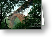 Appalachian Mountains Greeting Cards - New River Gorge Bridge  Greeting Card by Thomas R Fletcher