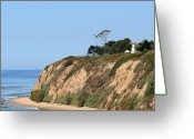 Maritime Greeting Cards - New Santa Barbara Lighthouse - Santa Barbara CA Greeting Card by Christine Till