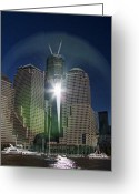 Interface Images Greeting Cards - New World Trade Center Greeting Card by David Smith