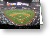 Baseball Game Greeting Cards - New Yankee Stadium Greeting Card by Peter Aiello