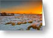 Connecticut Winter Scene Greeting Cards - New Year Sunrise 2011 Greeting Card by Bill  Wakeley