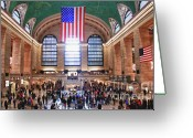 Vanderbilt Greeting Cards - New York - Grand Central Terminal Greeting Card by Levin Rodriguez
