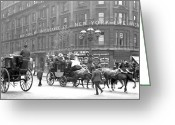 Coach Greeting Cards - New York 1898 Greeting Card by Stefan Kuhn