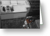 Manhattan Greeting Cards - New York Cabs Greeting Card by Irina  March