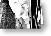 Sky Greeting Cards - New York City - In Flight Greeting Card by Vivienne Gucwa