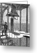 Winslow Homer Greeting Cards - New York City: Bell Tower Greeting Card by Granger