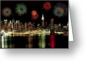 New York City Greeting Cards - New York City Fourth of July Greeting Card by Anthony Sacco