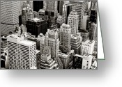 Nyc Cityscape Greeting Cards - New York City From Above Greeting Card by Vivienne Gucwa