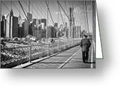 Manhattan Street Scenes Greeting Cards - New York City Greeting Card by Ilker Goksen