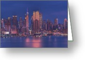 Building Ceramics Greeting Cards - New York City Greeting Card by Kirit Prajapati