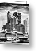 Cruise Ships Greeting Cards - New York City Patterns Greeting Card by John Rizzuto