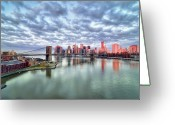 "Cloudscape Greeting Cards - New York City Greeting Card by Photography by Steve Kelley aka ""mudpig"""